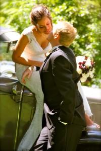 romance, wedding, bride, kiss
