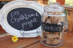 chalkboard cookie jar, welcome sign platter and the potential to make great do-it-yourself projects.