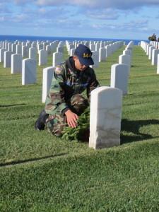 Scott honors the fallen